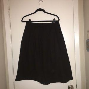 Black A-like midi skirt